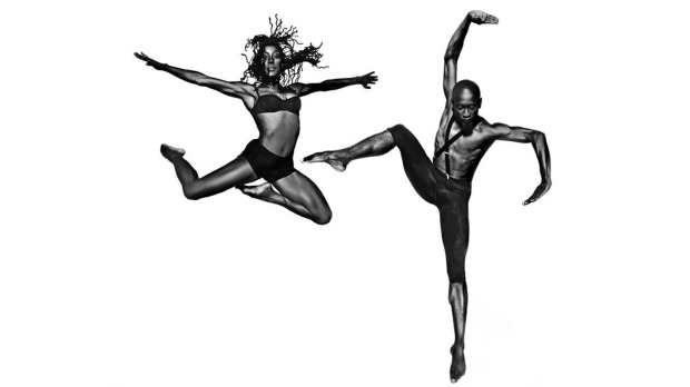 Posters featuring african american or african canadian dancers assembled for then now a multimedia showcase presented in tandem with black history